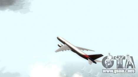 Boeing 777-280ER Asiana Airlines para GTA San Andreas vista posterior izquierda