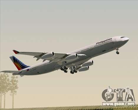 Airbus A340-313 Philippine Airlines para el motor de GTA San Andreas