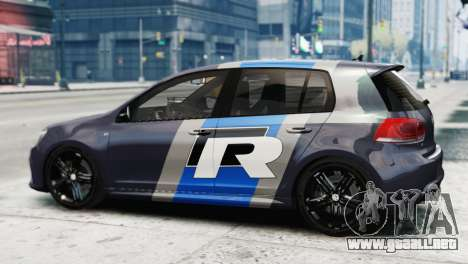 Volkswagen Golf R 2010 Polo WRC Style PJ2 para GTA 4 left