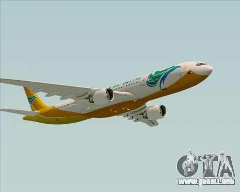 Airbus A330-300 Cebu Pacific Air para vista inferior GTA San Andreas
