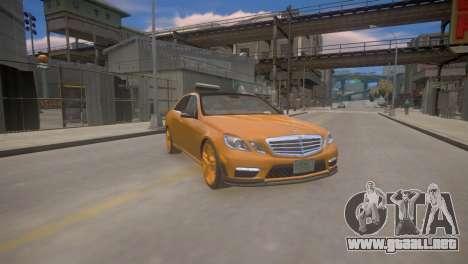 Mercedes-Benz E63 AMG для GTA 4 para GTA 4 vista hacia atrás