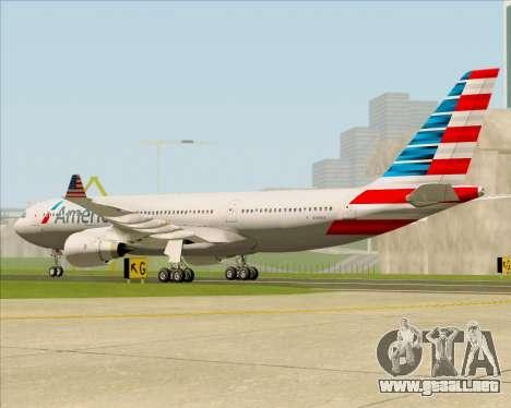 Airbus A330-200 American Airlines para la visión correcta GTA San Andreas