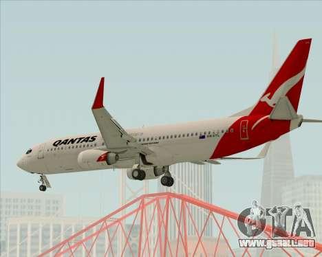 Boeing 737-838 Qantas para la vista superior GTA San Andreas