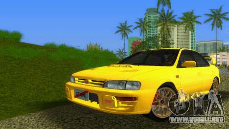 Subaru Impreza WRX STI GC8 Sedan Type 1 para GTA Vice City left