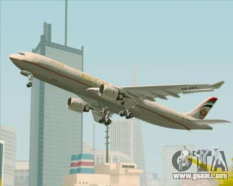 Airbus A330-300 Etihad Airways para las ruedas de GTA San Andreas