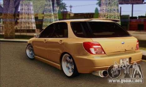 Subaru Impreza Wagon 2002 para GTA San Andreas left