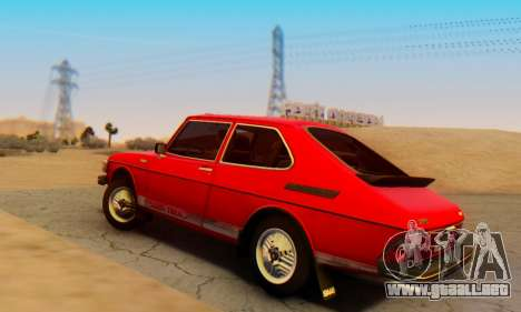 Saab 99 Turbo 1978 para GTA San Andreas left