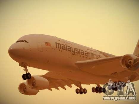 Airbus A380-800 Malaysia Airlines para GTA San Andreas left