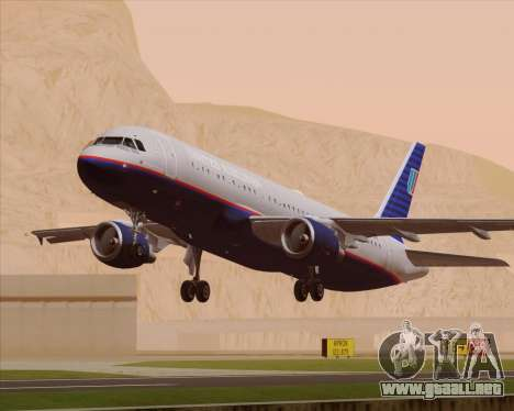 Airbus A320-232 United Airlines (Old Livery) para el motor de GTA San Andreas
