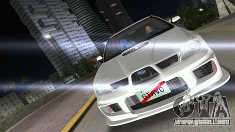 Subaru Impreza WRX STI 2006 Type 3 para GTA Vice City visión correcta