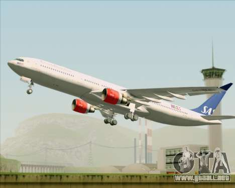 Airbus A330-300 Scandinavian Airlines System. para visión interna GTA San Andreas