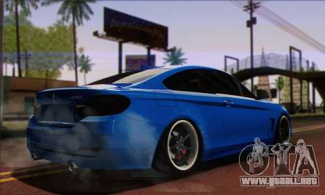BMW 435i Stance para GTA San Andreas left
