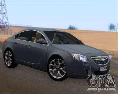 Opel Insignia OPC para GTA San Andreas left