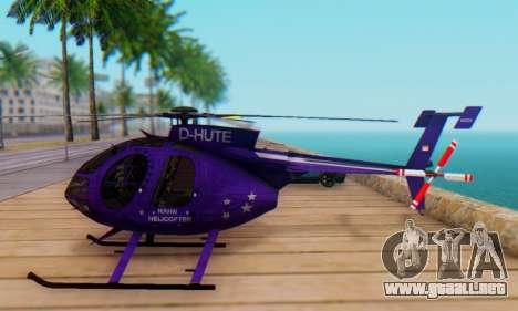 El MD500E helicóptero v1 para GTA San Andreas left