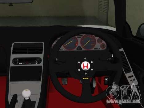 Honda NSX-R para GTA Vice City visión correcta