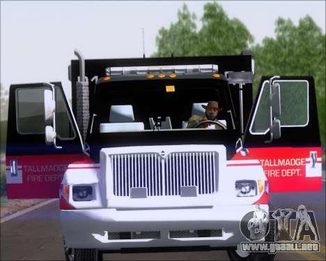 Pierce Commercial TFD Rescue 1 para la visión correcta GTA San Andreas