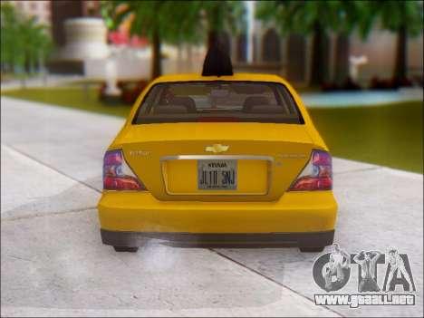 Chevrolet Evanda Taxi para la visión correcta GTA San Andreas