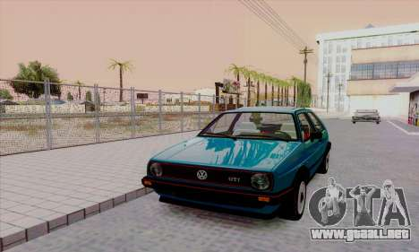 Volkswagen Golf 2 GTi para visión interna GTA San Andreas
