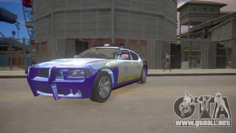 Dodge Charger Kuwait Police 2006 para GTA 4 left