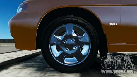 Daewoo Nubira I Wagon CDX US 1999 para GTA 4 vista interior