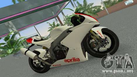 Aprilia RSV4 2009 Gray Edition para GTA Vice City left