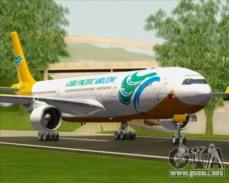 Airbus A330-300 Cebu Pacific Air para las ruedas de GTA San Andreas