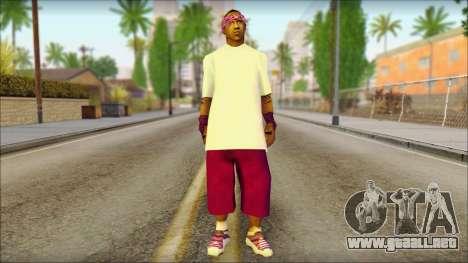 East Side Ballas Skin 1 para GTA San Andreas
