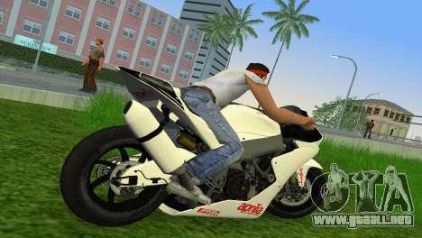 Aprilia RSV4 2009 White Edition II para GTA Vice City visión correcta