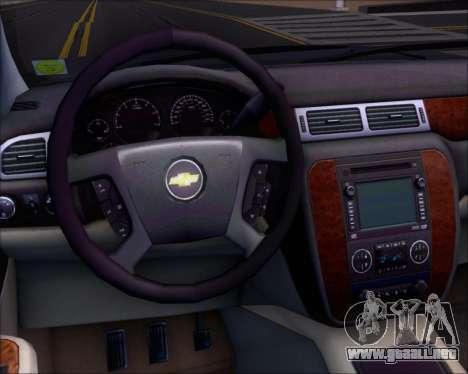Chevrolet Silverado 2011 para vista inferior GTA San Andreas