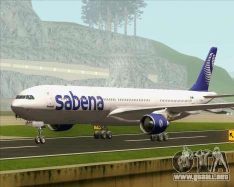 Airbus A330-300 Sabena para GTA San Andreas vista posterior izquierda
