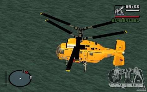 KA-27 N para GTA San Andreas vista posterior izquierda
