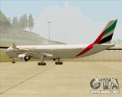 Airbus A330-300 Emirates para la visión correcta GTA San Andreas