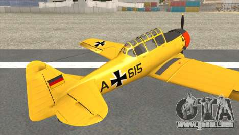 North American T-6 TEXAN AA615 para GTA San Andreas left