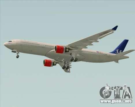 Airbus A330-300 Scandinavian Airlines System. para GTA San Andreas vista hacia atrás