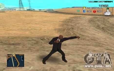 C-HUD by SampHack v.11 para GTA San Andreas segunda pantalla