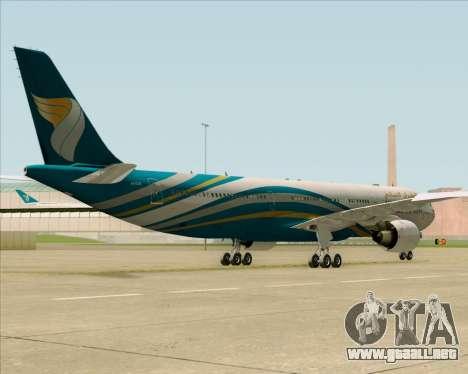 Airbus A330-300 Oman Air para visión interna GTA San Andreas