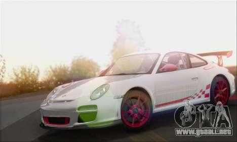 Porsche 911 GT3 2010 para GTA San Andreas vista posterior izquierda
