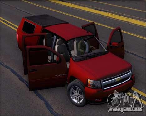 Chevrolet Silverado 2011 para vista lateral GTA San Andreas
