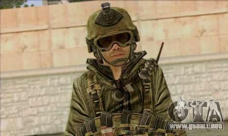 Task Force 141 (CoD: MW 2) Skin 11 para GTA San Andreas tercera pantalla