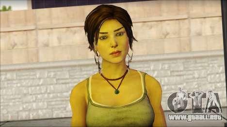 Tomb Raider Skin 11 2013 para GTA San Andreas tercera pantalla