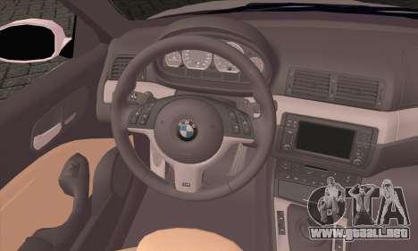 BMW M3 Cabrio para GTA San Andreas vista posterior izquierda