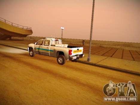 Chevrolet Silverado 2500HD Public Works Truck para vista lateral GTA San Andreas
