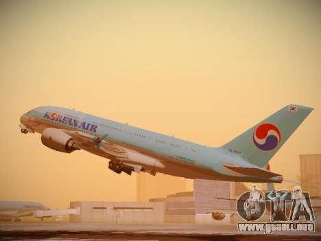 Airbus A380-800 Korean Air para la visión correcta GTA San Andreas