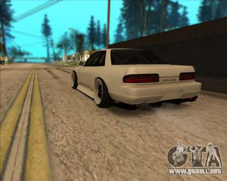 Nissan Silvia S13 para GTA San Andreas vista hacia atrás