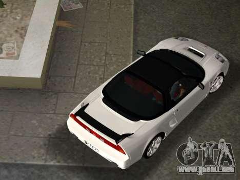 Honda NSX-R para GTA Vice City vista desde abajo