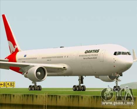 Boeing 767-300ER Qantas para visión interna GTA San Andreas