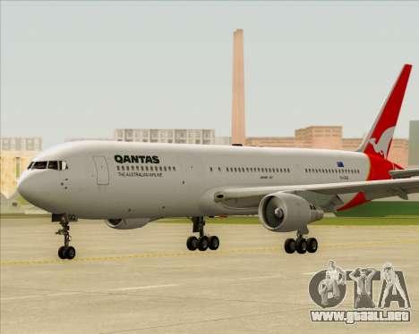 Boeing 767-300ER Qantas para la vista superior GTA San Andreas