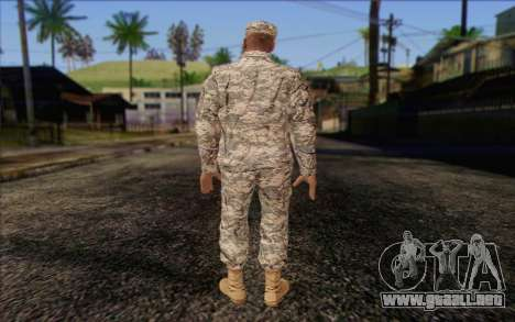 California National Guard Skin 4 para GTA San Andreas segunda pantalla