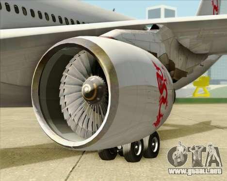 Airbus A330-300 Dragonair para visión interna GTA San Andreas