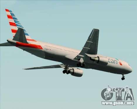 Boeing 767-323ER American Airlines para GTA San Andreas vista hacia atrás